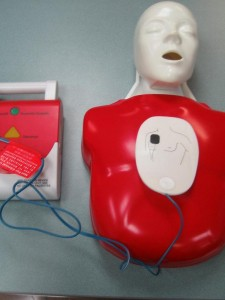 Pediatric AED pad placement