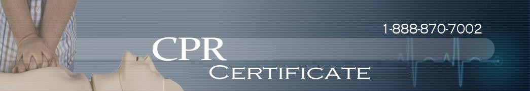 CPR Certificate